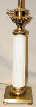 082475 PORCELAIN  BRONZE DECORATIVE LAMP H 36