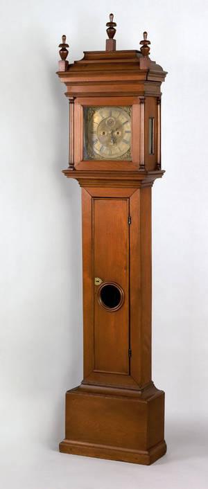 Philadelphia Queen Anne walnut tall case clock ca 1740