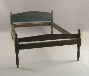 Pennsylvania painted rope bed ca 1800