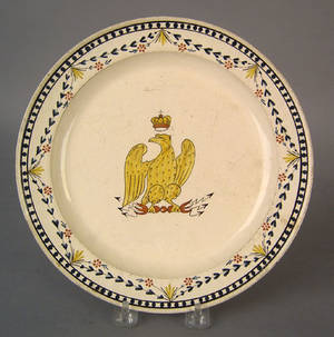 Creamware plate early 19th c