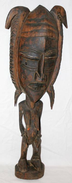 090046 AFRICAN CARVED WOOD SCULPTURE NUDE FEMALE