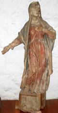 082039 ITALIAN POLYCHROMED WOOD SCULPTURE 17TH18TH C