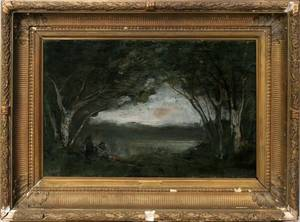 072042 AFTER JEANBAPTISTECAMILLE COROT OIL ON CANVAS