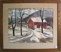 Edward C Michener watercolor winter landscape