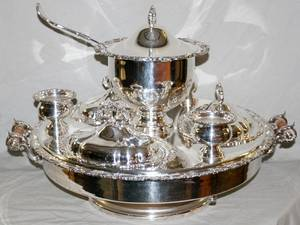 121106 SILVERPLATE LAZY SUSAN DIA 23
