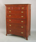 Mid Atlantic Federal cherry tall chest ca 1810