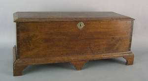 Pennsylvania walnut diminutive blanket chest late 18th c