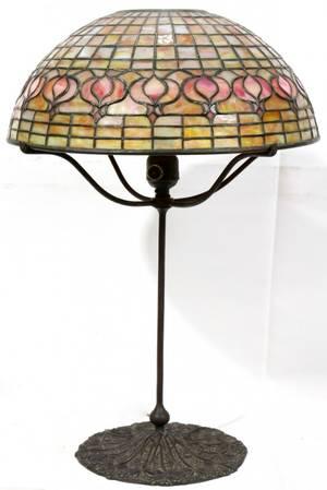 122069 TIFFANY STUDIOS LEADED GLASS LAMP SHADE DIA 14
