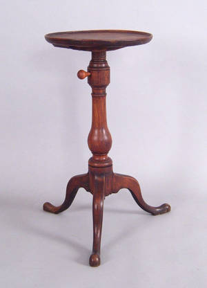 Pennsylvania or New Jersey applewood candlestand late 18th c