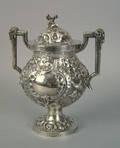 Philadelphia silver covered sugar ca 1840