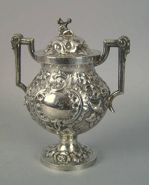 Philadelphia silver covered sugar ca 1840