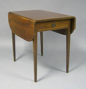 Pennsylvania Hepplewhite mahogany pembroke table ca 1810