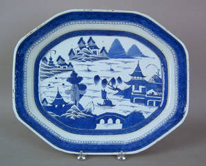 Canton oblong platter early 19th c