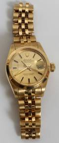122122 ROLEX OYSTER PERPETUAL 18KT GOLD LADYS WATCH