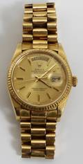 122121 ROLEX OYSTER PERPETUAL 18KT GOLD MANS WATCH