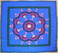 Pieced star quilt