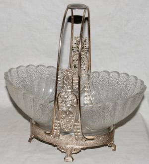 121256 VICTORIAN ELECTROPLATE SILVER EPERGNE STAND