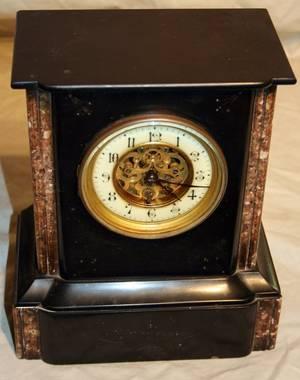 110223 VICTORIAN PRINCE ALBERT MARBLE MANTLE CLOCK
