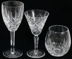102256 WATERFORD LISMORE CRYSTAL GOBLETS WINES
