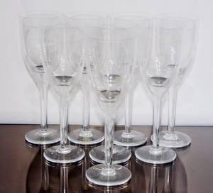 102247 LALIQUE WINE GLASSES 8 H 8