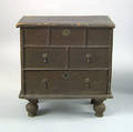 Enfield Connecticut William  Mary childs painted pine blanket chest ca 1730