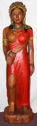 120108 HAND PAINTED CIGAR STORE INDIAN H 59 W 20