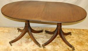 121329 FEDERAL STYLE MAHOGANY DOUBLEPEDESTAL TABLE