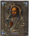 112250 RUSSIAN ICON WITH ENAMEL HALLMARKED 84