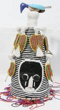 110241 AFRICAN BEAD HEAD DRESS H 18 DIA 9