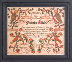 Johann Henrich GoettelPennsylvania active 17861789 Kirchenbuch Artist