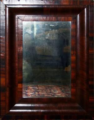 121378 AMERICAN EMPIRE MAHOGANY OGEE MIRROR C 1840