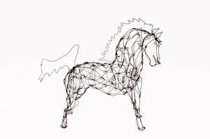 Thai Varick Wire Horse Sculpture