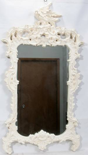 120232 FEDERAL STYLE PAINTED WOOD  GESSO MIRROR