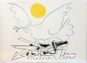 112388 PICASSO COLOR LITHO DOVE OF PEACE
