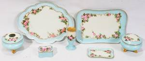 111496 HANDPAINTED PORCELAIN DRESSER SET C 1900