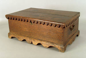 English oak Bible Box late 18th c