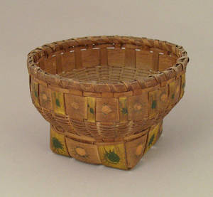 Maine Indian splint basket late 19th c