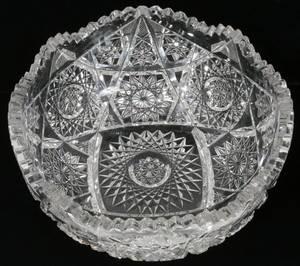 111541 BRILLIANT CUT GLASS FRUIT BOWL C 1900