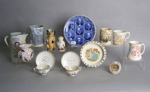 Miscellaneous group of pottery and porcelain