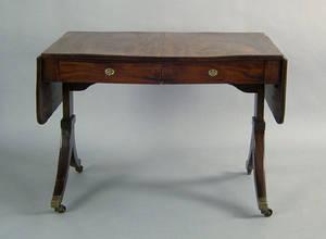 George III mahogany sofa table late 18th c