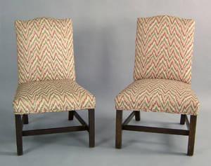 George III mahogany back stool ca 1770