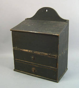 Pennsylvania painted pine hanging box 19th c