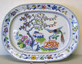 Large Gaudy ironstone floral platter