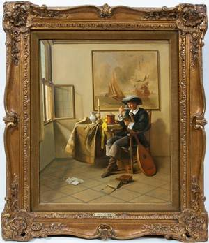122016 FRANZ XAVIER WOLF OIL YOUNG MAN AT TABLE