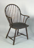 Philadelphia bowback windsor armchair ca 1800