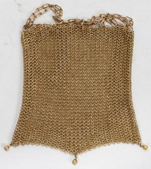 111071 GOLD MESH EVENING BAG