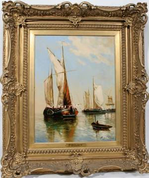 102016 PAUL JEAN CLAYS OIL MOORED SAILING VESSELS