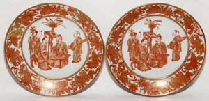 121041 CHINESE EXPORT PORCELAIN PLATES 19TH C TWO
