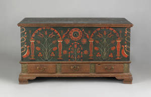 Berks County Pennsylvania painted dower chest dated 1803
