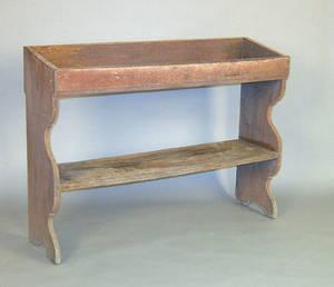 Pennsylvania painted oak bucket bench ca 1780